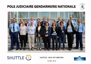 he SHUTTLE project held its kick-off meeting on 22-23 May 2018 in Pontoise, France at IRCGN premises.